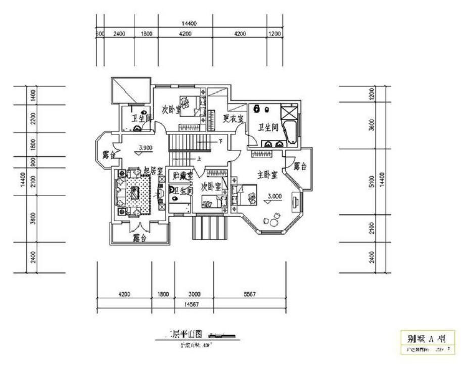 西式别墅建筑户型图纸