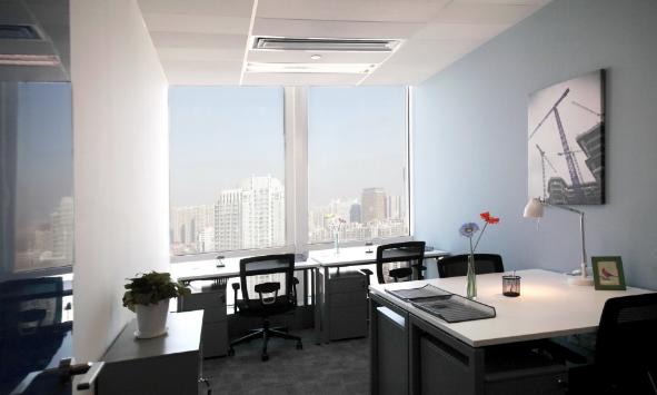 创意小型办公室装修效果图
