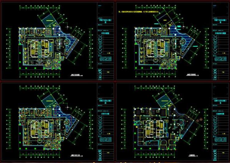高档咖啡店CAD施工图效果图