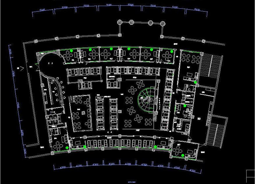 星巴克咖啡厅装修CAD方案
