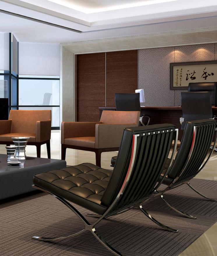 高档办公室室内方案设计效果图