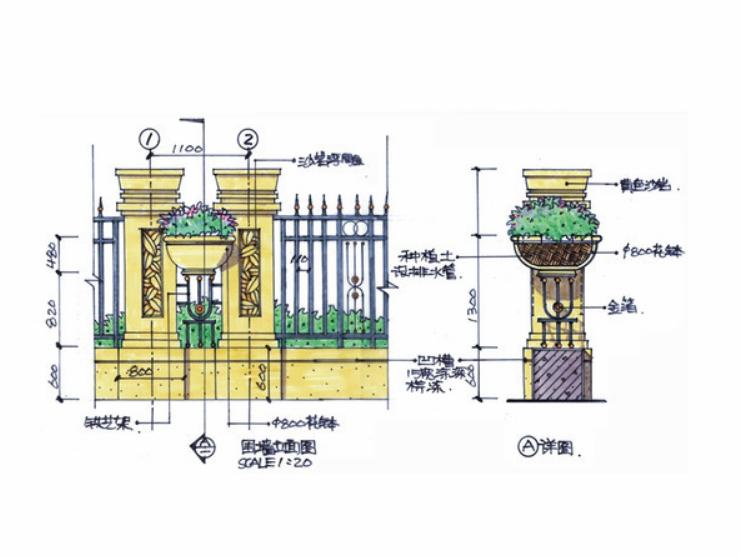 围墙设计立面图