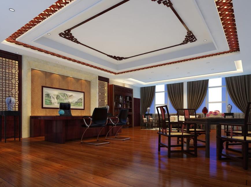 总裁办公室3d模型