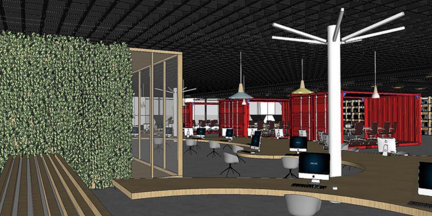网咖网吧室内设计SU模型