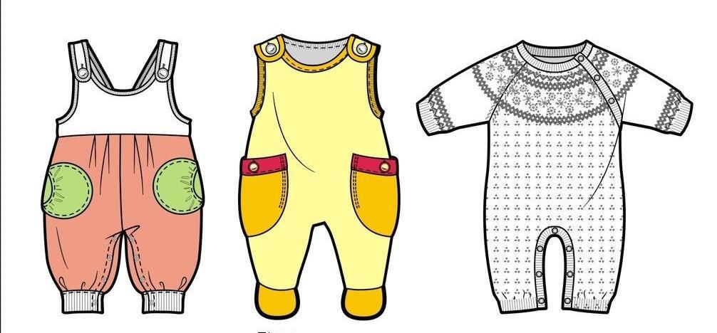 初生儿童服装设计样式欣赏