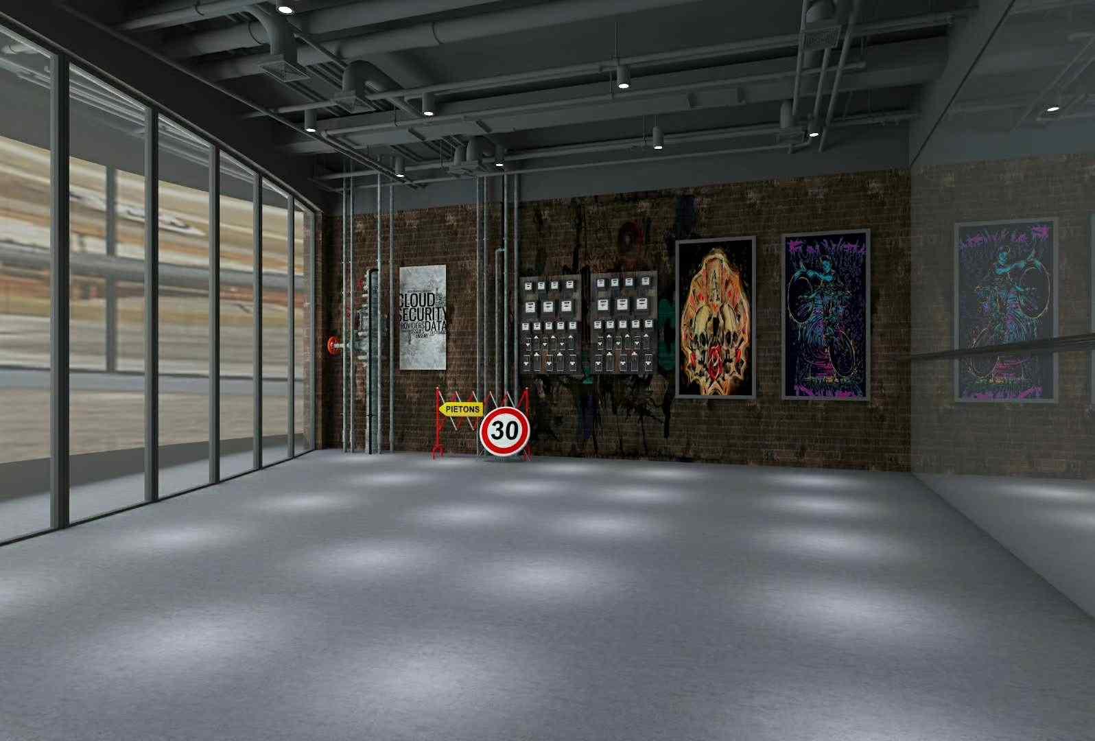 中山工业风舞蹈室规范工业厂房机械设计图片