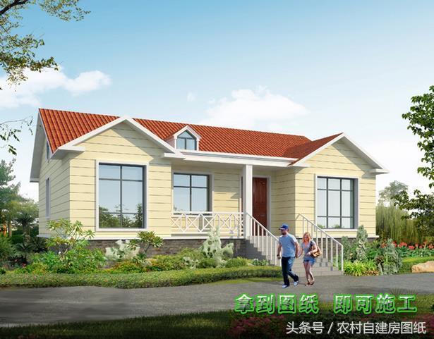 15万村长别墅设计图,5款一层平房,别墅说第3款农村兴城出租海边图片