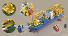 【天鲲号】运砂船工业建模