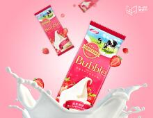 牛奶草莓味冰淇淋包装