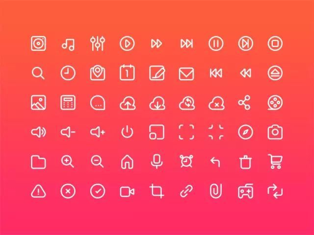 UI设计中的图标分为哪些类型?