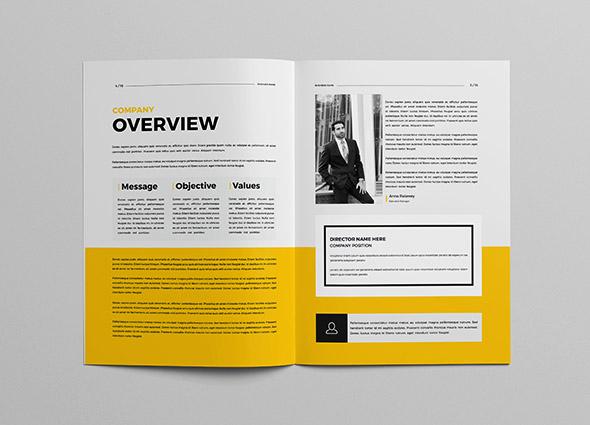 一本简约大方的企业画册设计 优秀企业画册设计案例