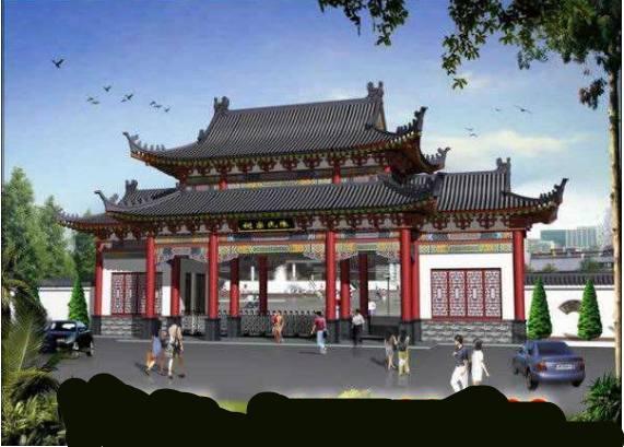 超赞的门楼设计施工图纸方案,高大上的门楼设计施工图纸方案