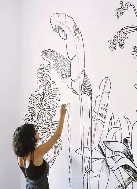 独一无二的家庭手绘墙,这样的家庭手绘墙太美了