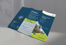 英教国际三折页宣传品设计