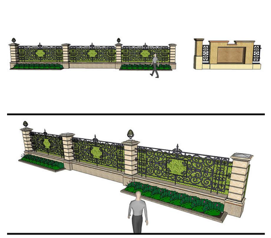围墙怎么设计?10个高大上的围墙设计效果图案例欣赏