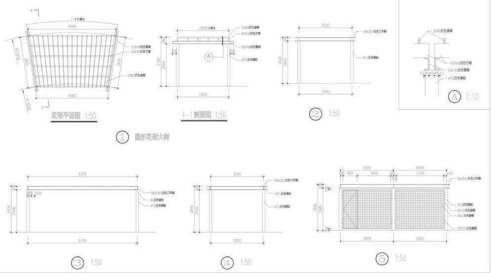 花架怎么设计?2019实用的花架平面图设计欣赏