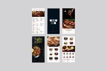 牛师傅餐饮折页设计