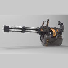 【3D建模】加特林机枪模型