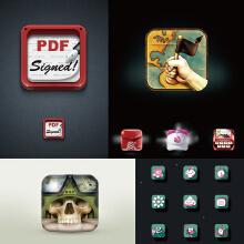 威客服务:[128230] 【拾月】小程序图标设计、坐标LOGO设计、图形设计