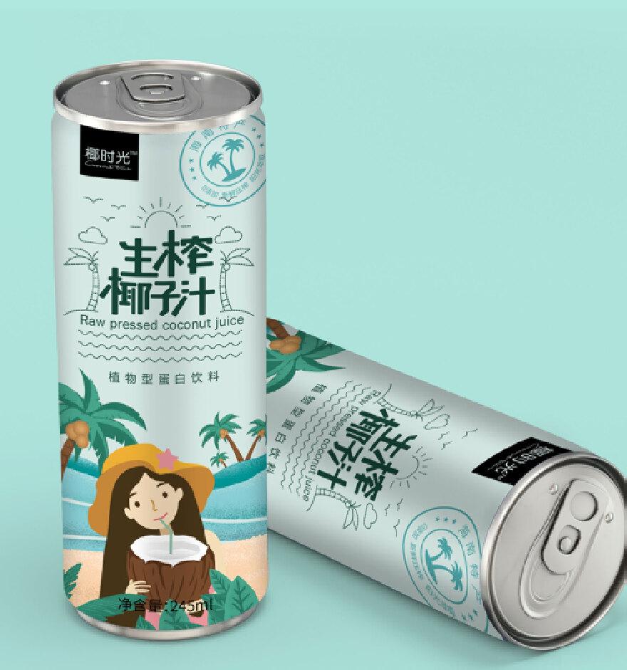生榨椰子汁包装设计防城港平面设计招聘信息图片