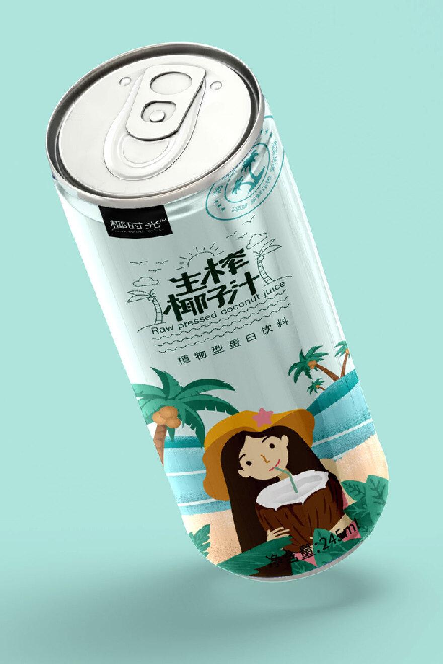 生榨椰子汁包装设计室内设计室内墙厚度图片
