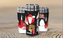 天喜保温杯圣诞主题包装设计