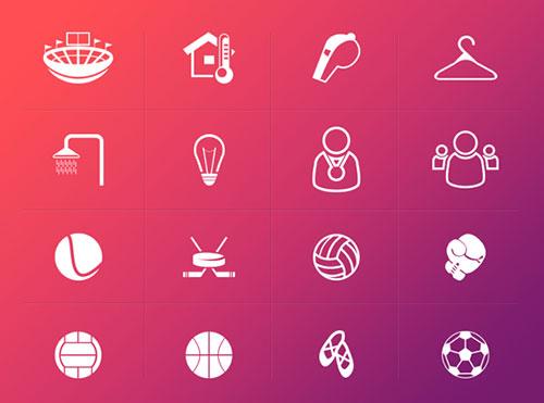 体育运动图标设计