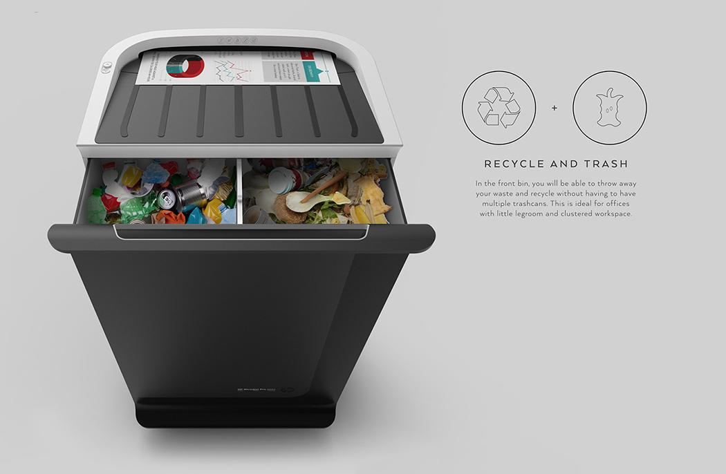 多功能垃圾桶设计