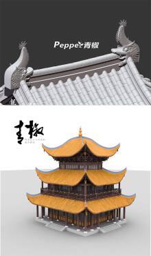 古建筑建模与实物制作