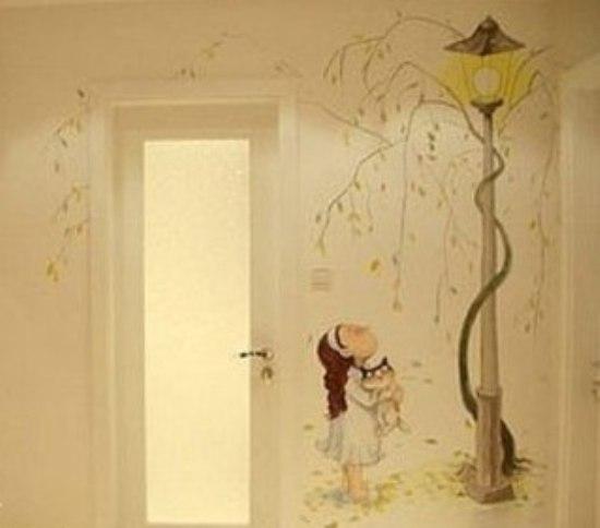 亮丽个性手绘背景墙设计 个性手绘背景墙设计方案