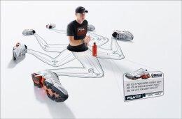 潮流风格的FILA运动鞋平面广告设计欣赏