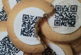 饼干设计,可以吃的二维码。