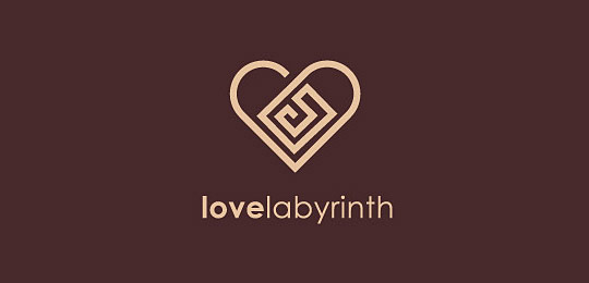 51个心形图案的创意logo设计