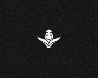 话筒标志创意logo设计图案图片