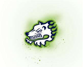 """以""""狼""""为元素的logo设计"""