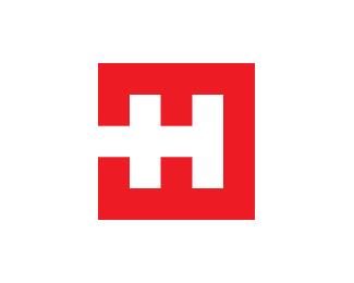 方形效果的标志设计