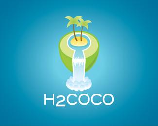 椰子元素logo设计