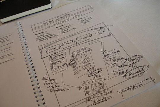 20例网页设计草图和线框图图片
