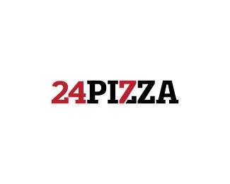 热比萨主题logo设计