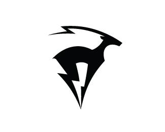 羚羊元素标志设计