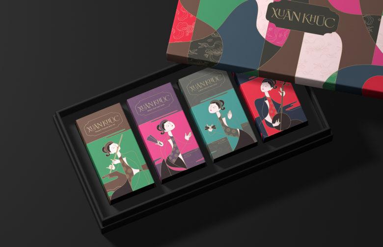 越南Xuân Khúc蜜饯水果礼盒包装设计