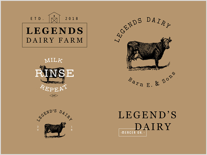 30款乳制品logo设计欣赏