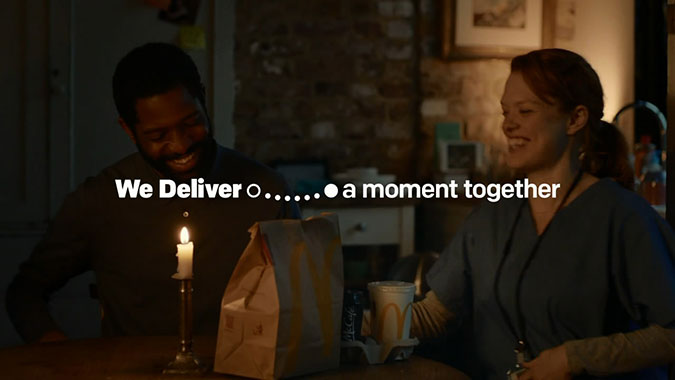 递送时光: 英国麦当劳与Uber外卖服务广告