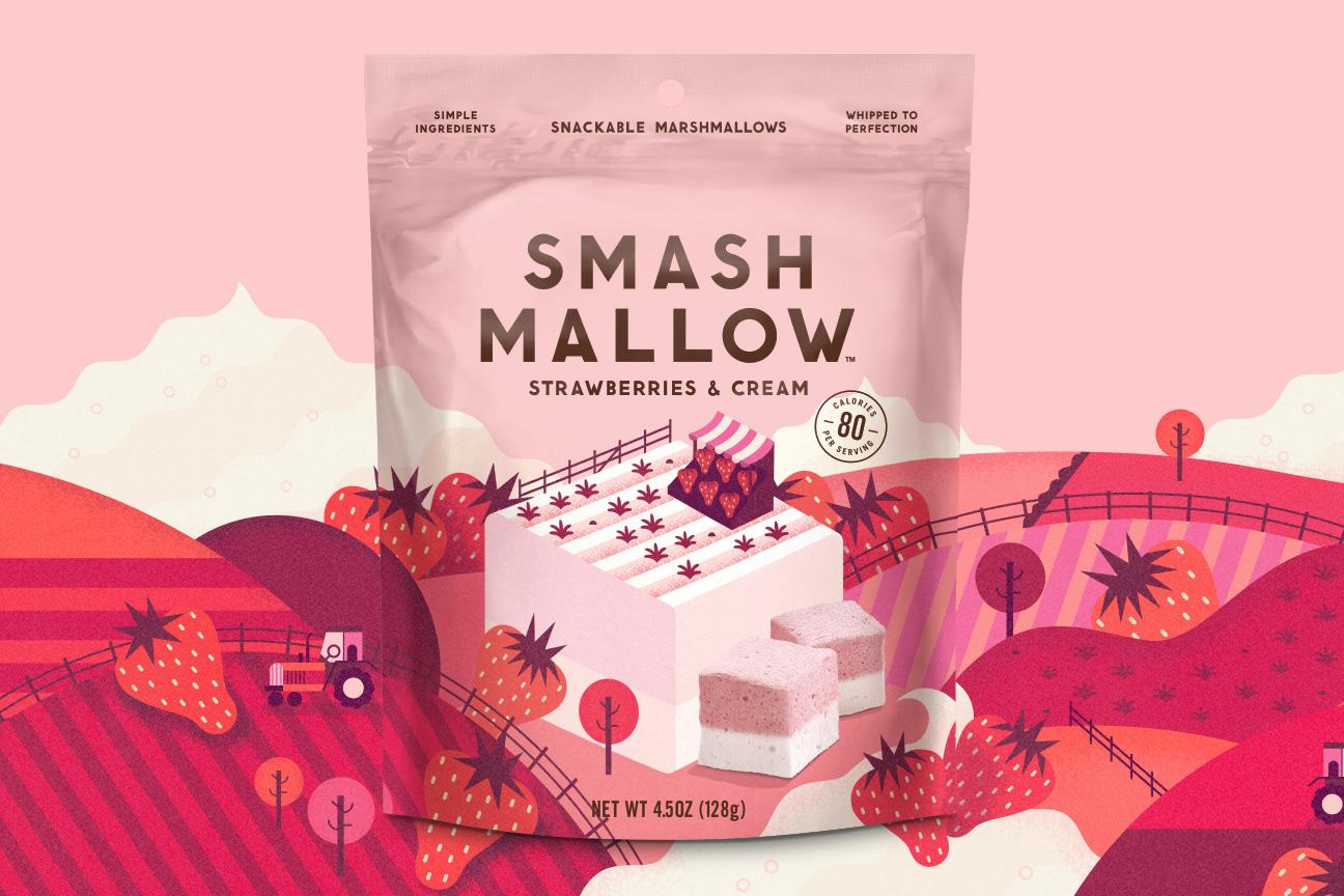 SmashMallow棉花糖包装设计