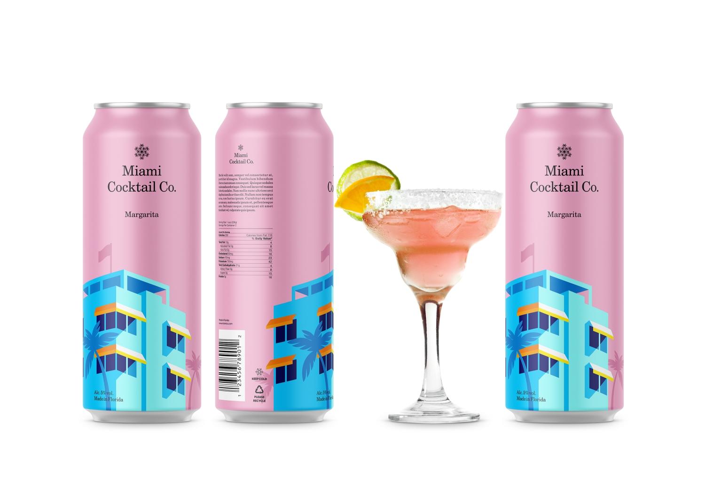 Miami罐装鸡尾酒包装设计