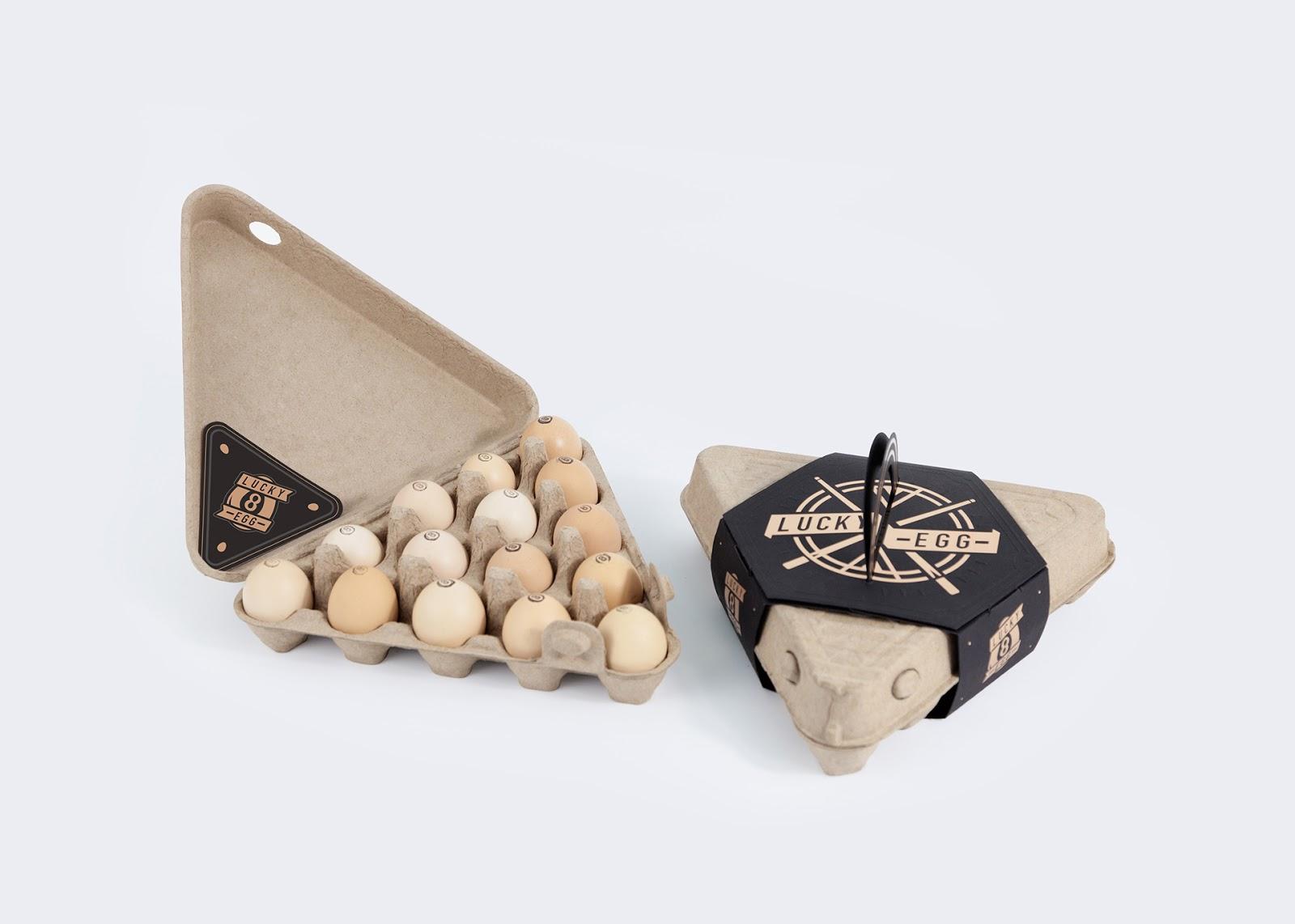 LUCKY鸡蛋盒包装设计