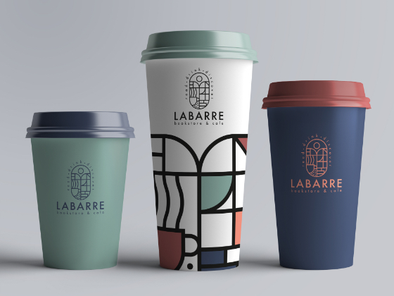 品牌VI设计欣赏:Labarre书店+咖啡馆
