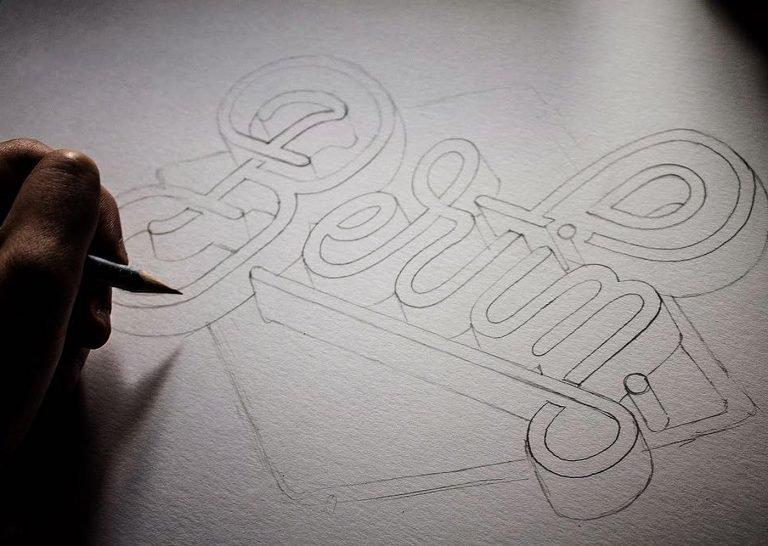 Emanuele Ricci创意手绘字体设计