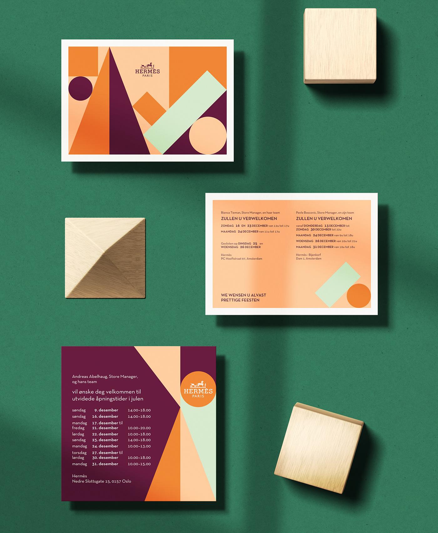 爱马仕(Hermès)明信片和贺卡设计