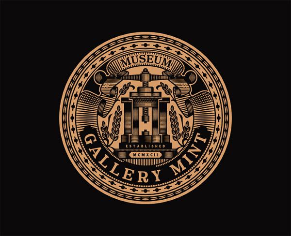 16款徽章风格logo设计